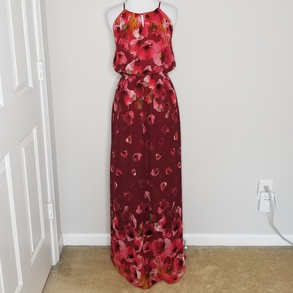 Fate Dresses & Skirts - Fate | Burgundy Floral Maxi Dress | M